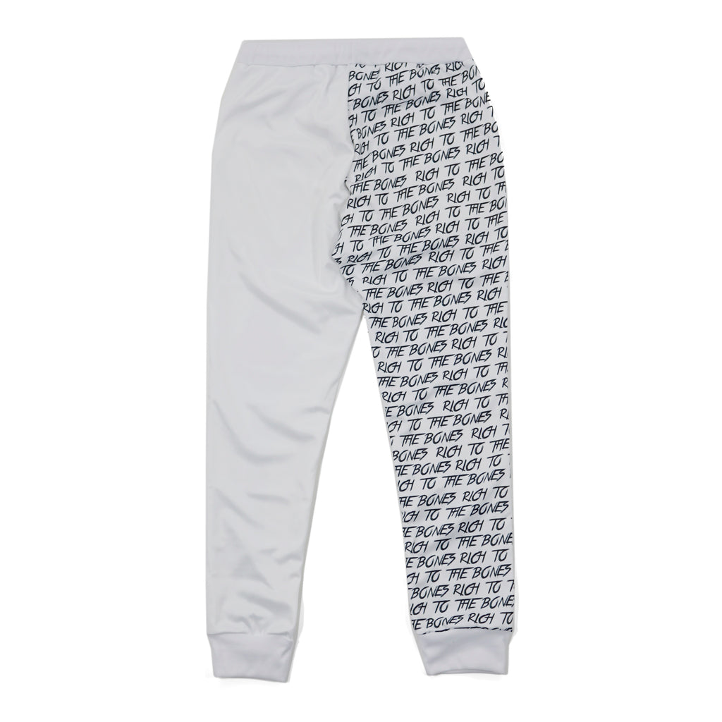 Rich to the Bones White Joggers