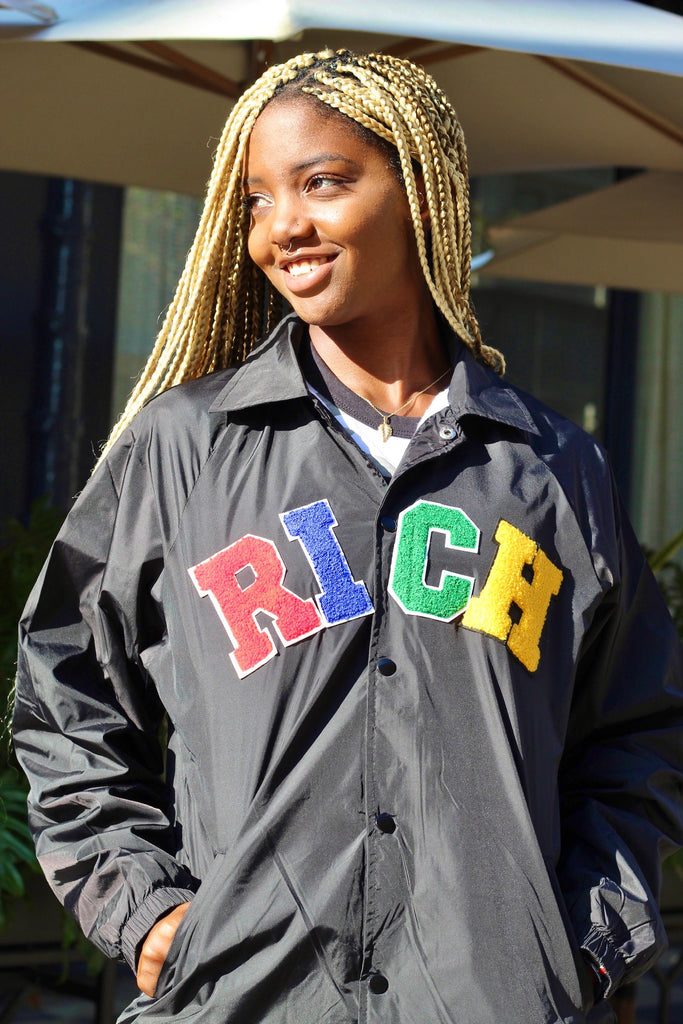 'RICH' Patch WindBreaker Jacket