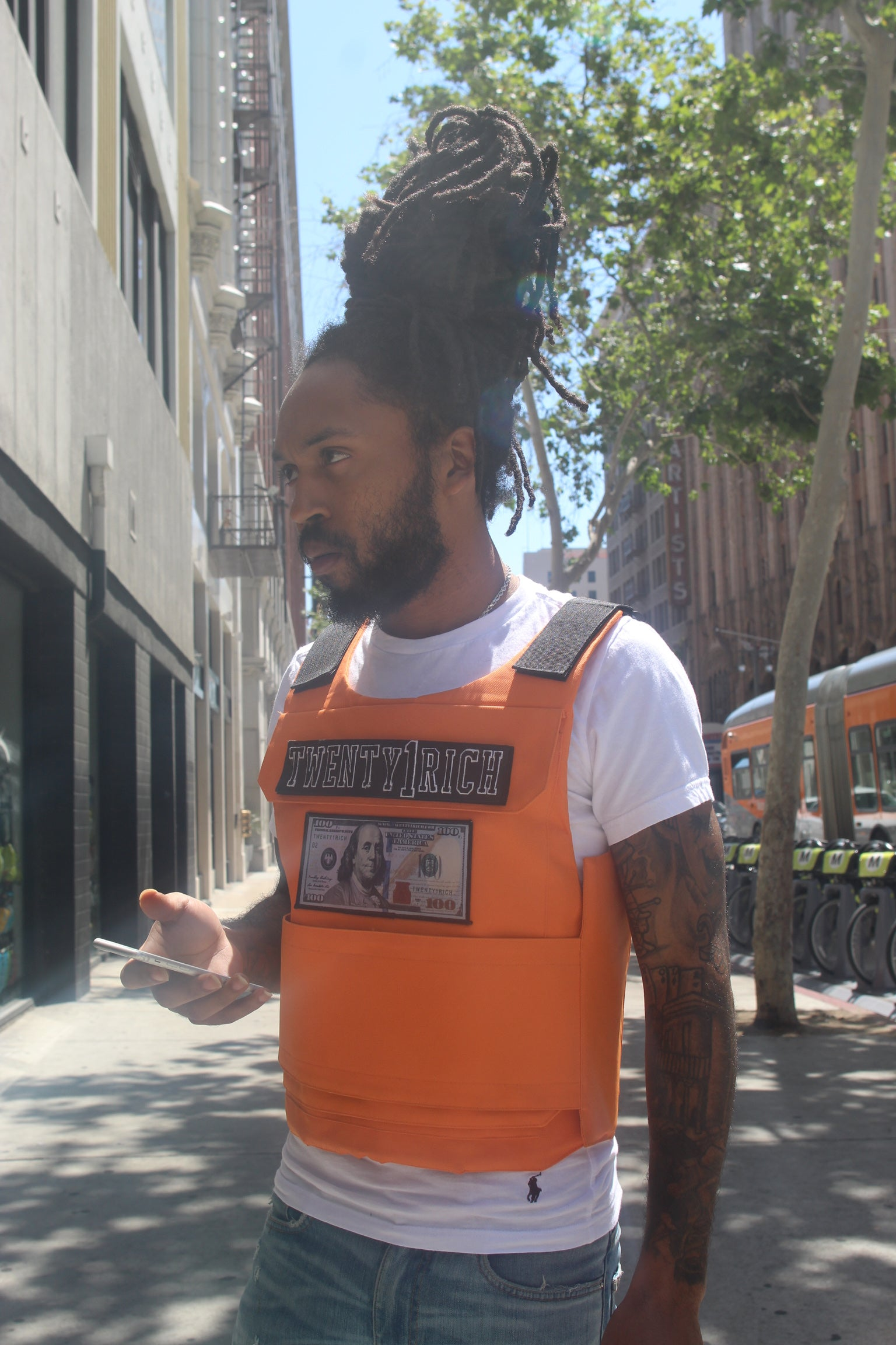 'Blue Hundreds' Orange Vest