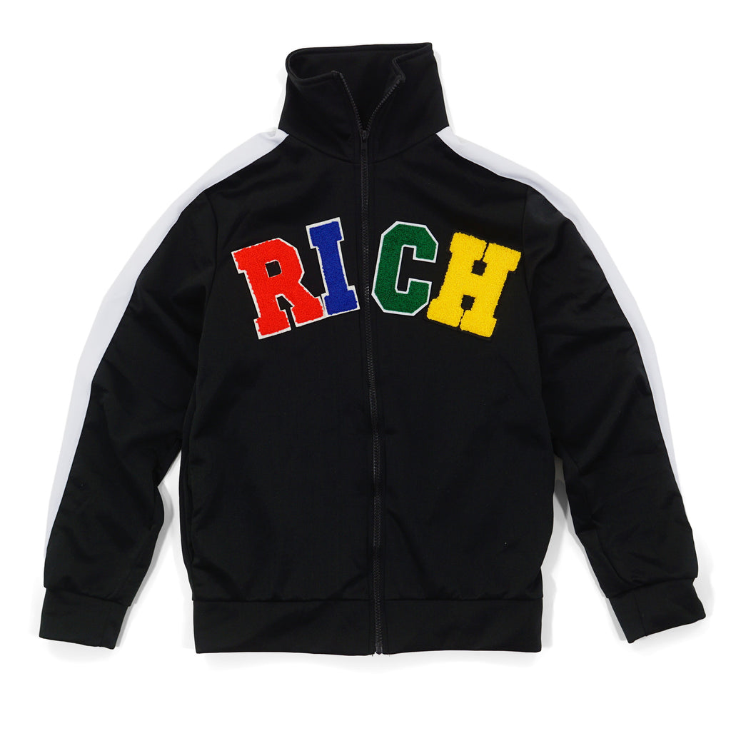 'RICH' Patch Track Jacket