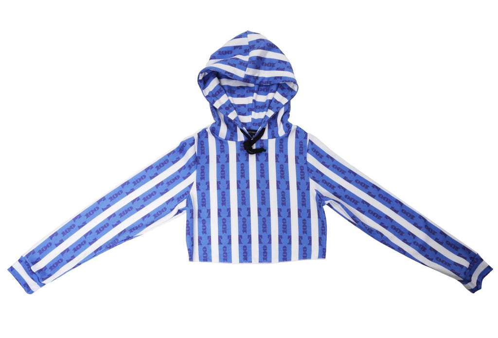 Blue Strip Pullover Hoodie by Twenty1Rich. Hip Hop, Rap, Streetwear, Hype
