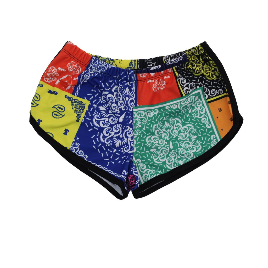 Bandana Print Womens Running Shorts
