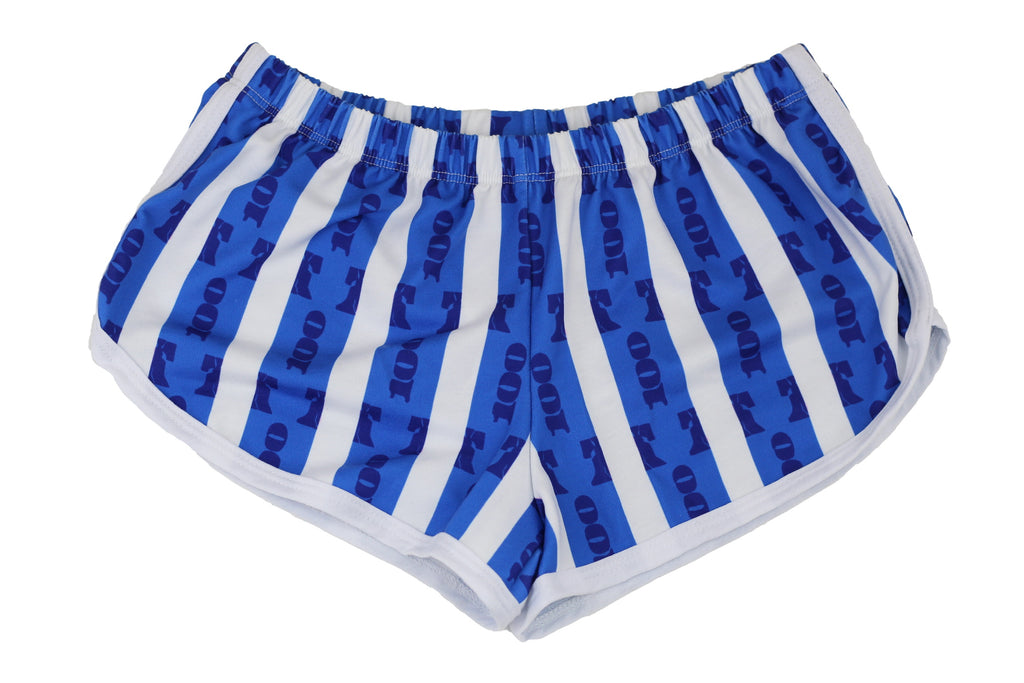 Blue Stripes Women's Running Shorts