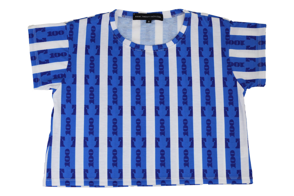 Blue Stripes Tube Tee