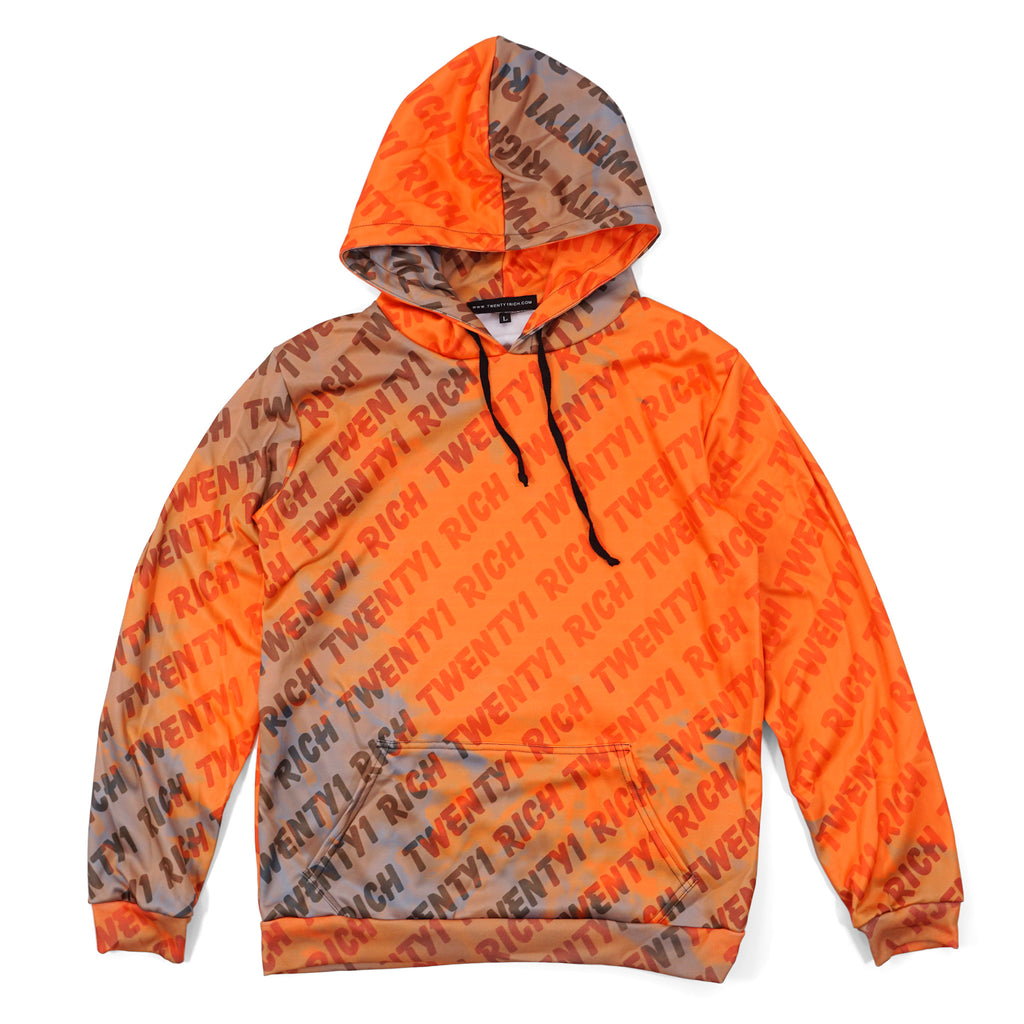 Sunset T1R Print Pullover Hoodie
