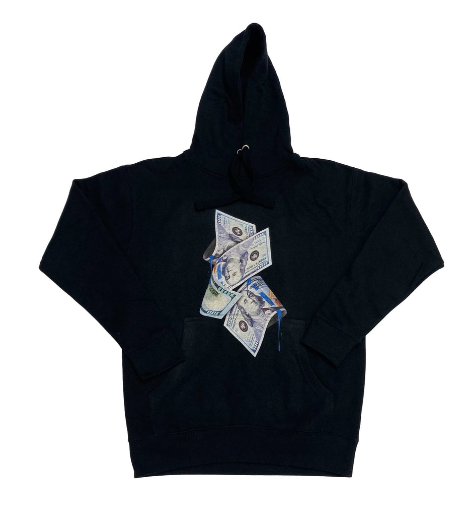 Black Hoodie by Twenty1Rich with a $100 print