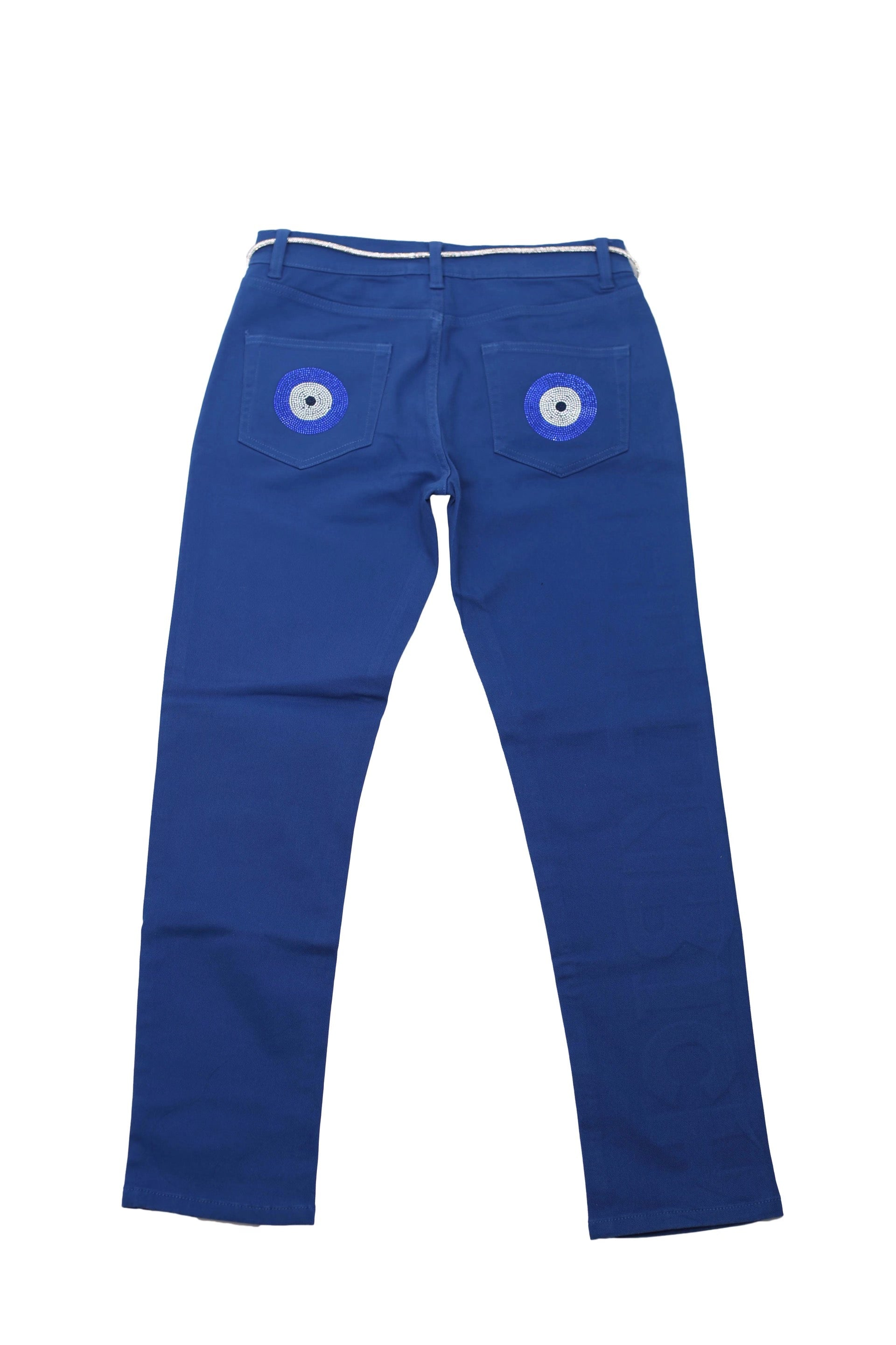 VVS Pants in Red & Blue