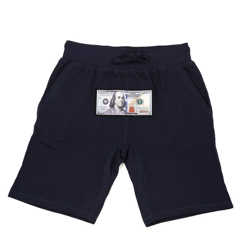 'Blue Hundreds' Athletic Shorts - Twenty1Rich