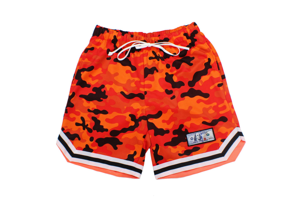 Fire Camo Basketball Shorts
