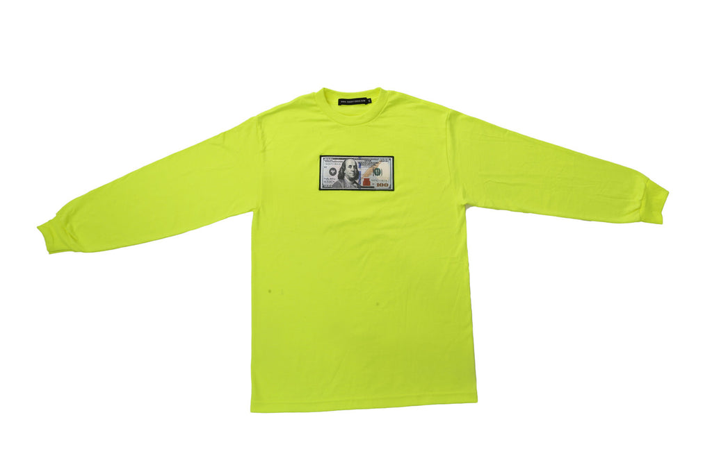 Neon Long Sleeve Shirt by Twenty1Rich with a $100 logo
