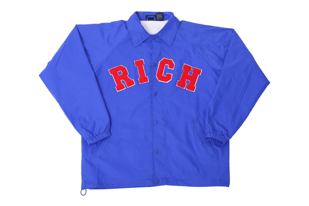 Blue RICH Windbreaker Jacket by Twenty1Rich