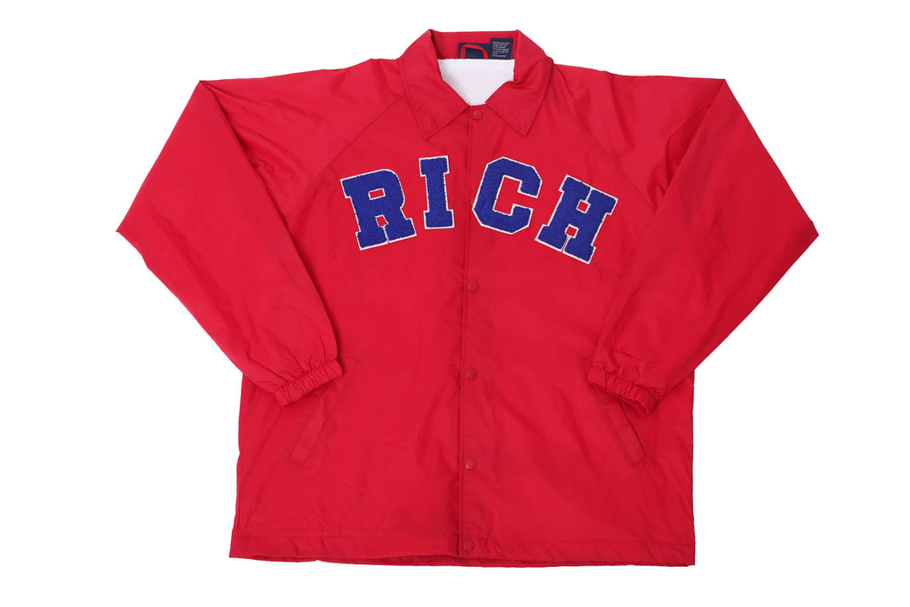 Red RICH Windbreaker Jacket by Twenty1Rich