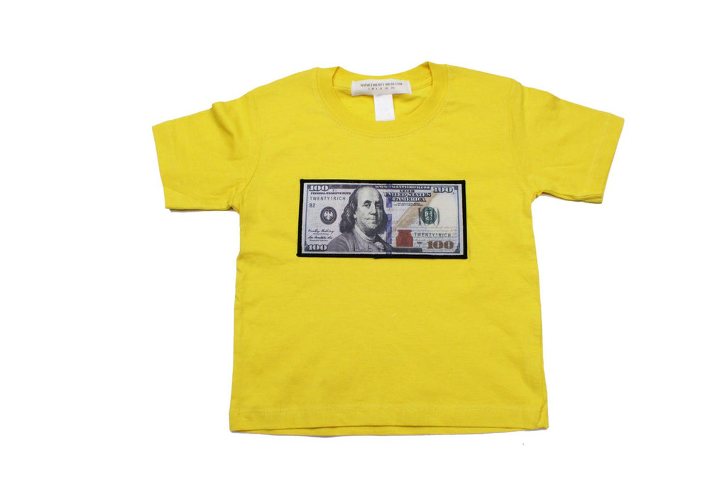 Yellow Infant Tee by Twenty1Rich with a $100 logo