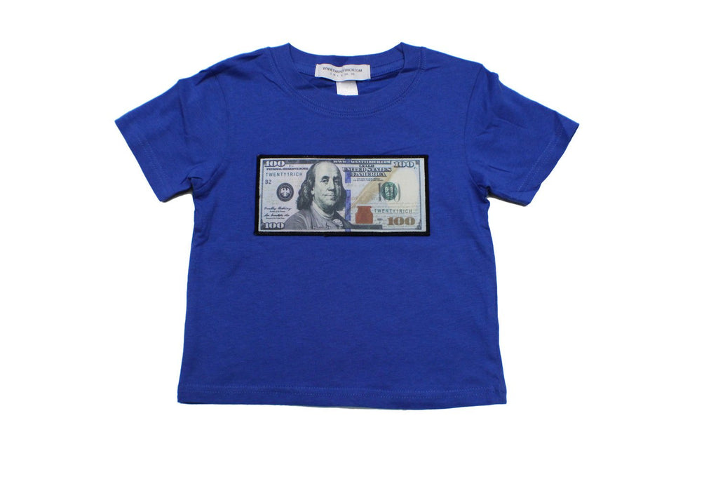 Royal Blue Infant Tee by Twenty1Rich with a $100 logo