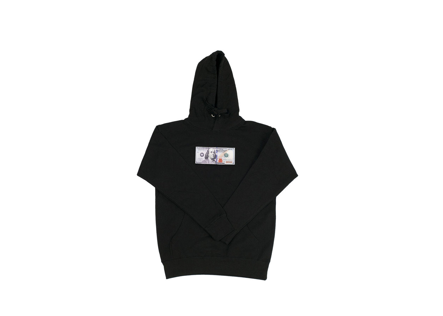 Black Hoodie with a $100 logo