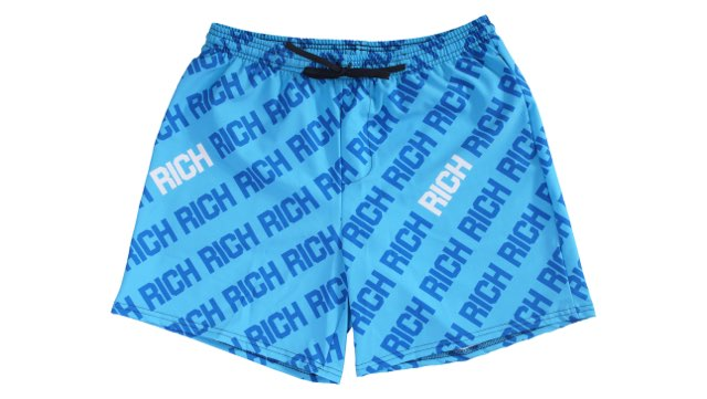 Blue Rich Type Mens Swim Trunk