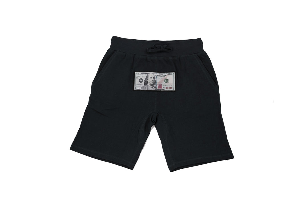 Black Athletic Shorts by Twenty1Rich with a $100 logo