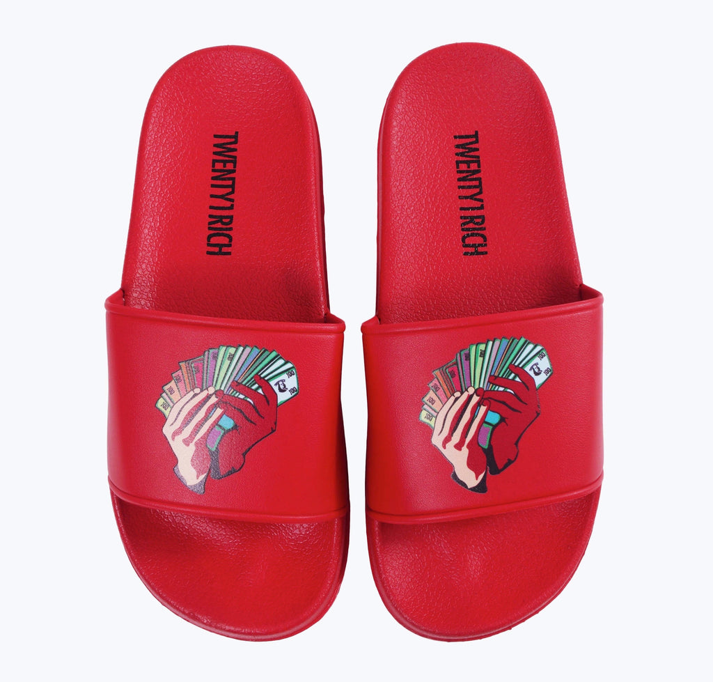 Money Fan Slides - Red