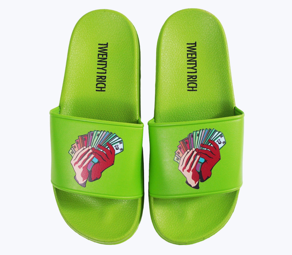Money Fan Slides - Green