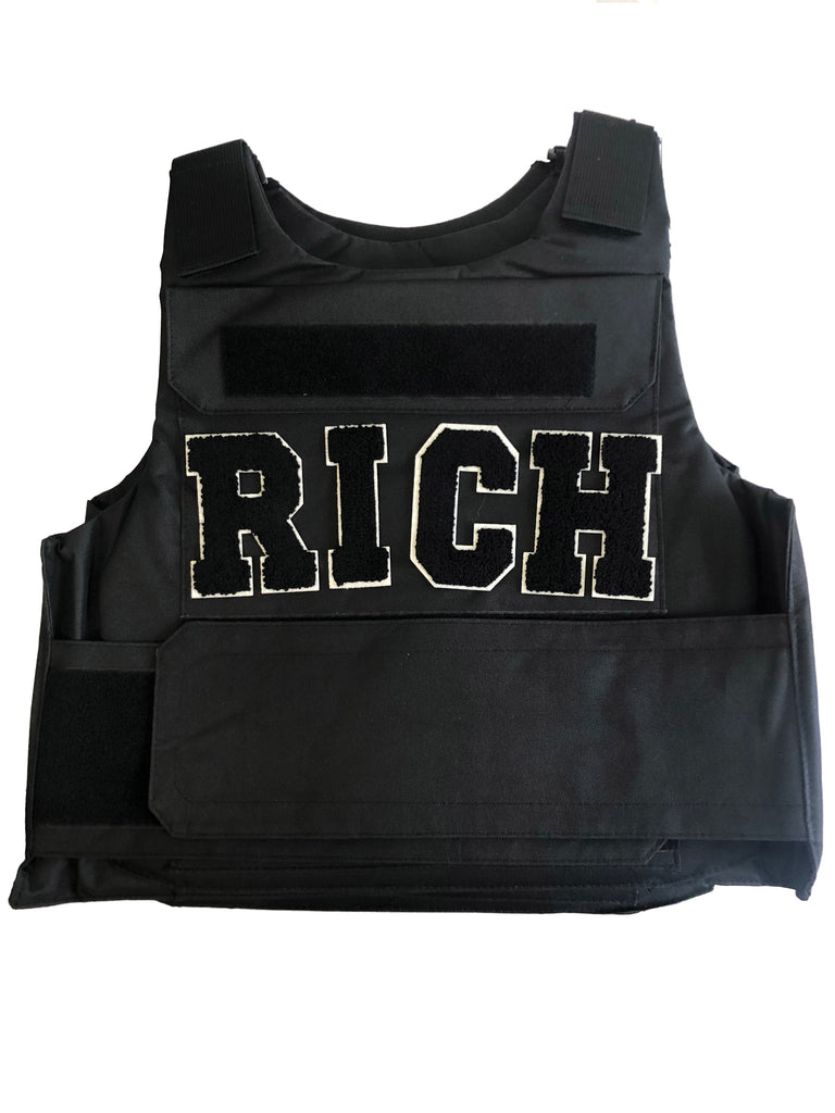 "Black ""RICH"" Vest - Twenty1Rich"