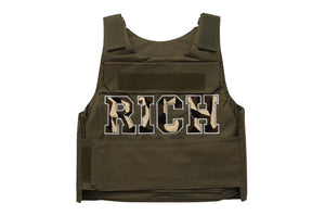 Olive Green RICH Camo Vest