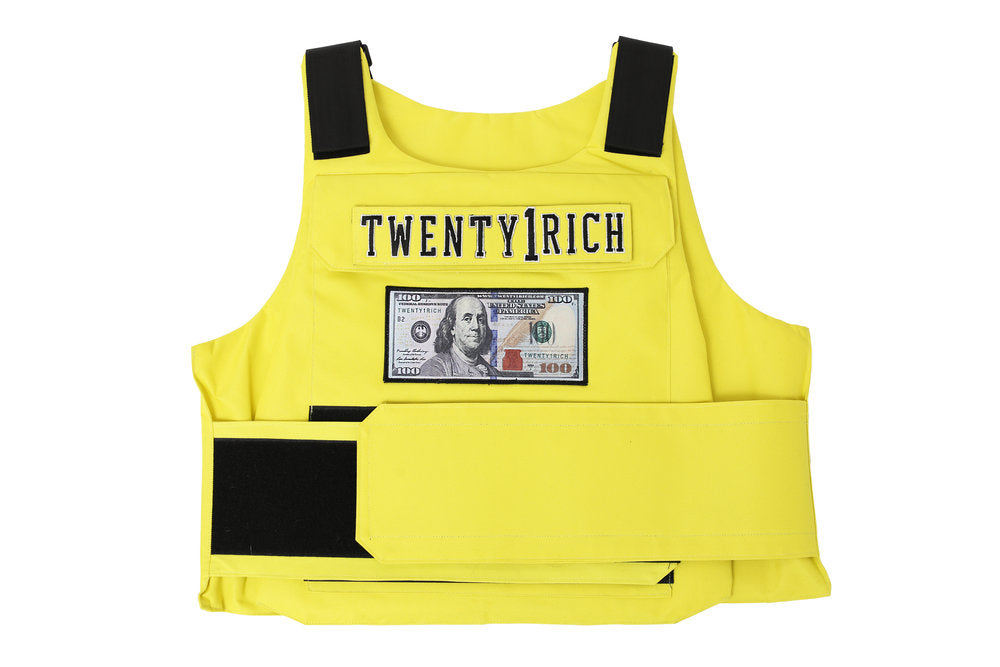 Yellow Neon Vest by Twety1Rich with a $100 logo