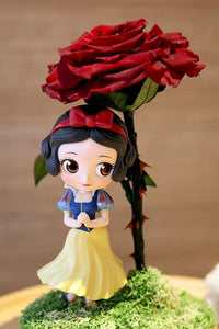 Snow White - Lady Flo'rae - Unique gift handcrafted with preserved flowers