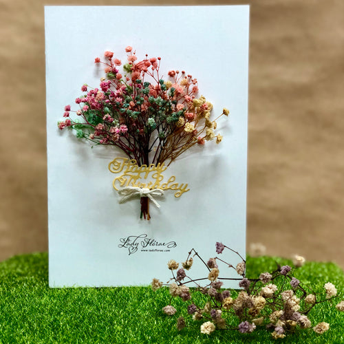 Baby's Breath Floral Card