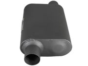 aFe Scorpion Replacement Alum Steel Muffler 2-1/2in In/Out Baffled Offset/Offset 13inL x10inW x4inH