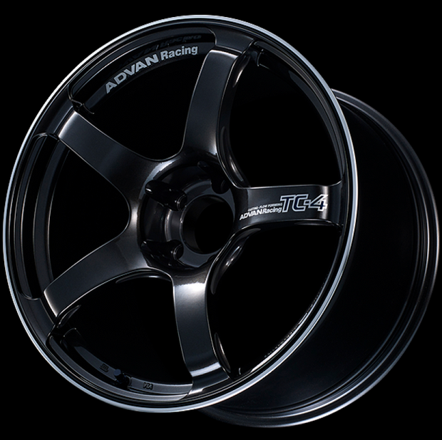Advan TC4 18x9.5 +35 5-114.3 Racing Black Gunmetallic and Ring Wheel