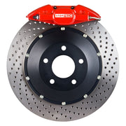 StopTech 99-02 Audi S4 Rear Big Brake Kit Red ST-22 Calipers 328x28mm Drilled Rotors Pads & SS Lines