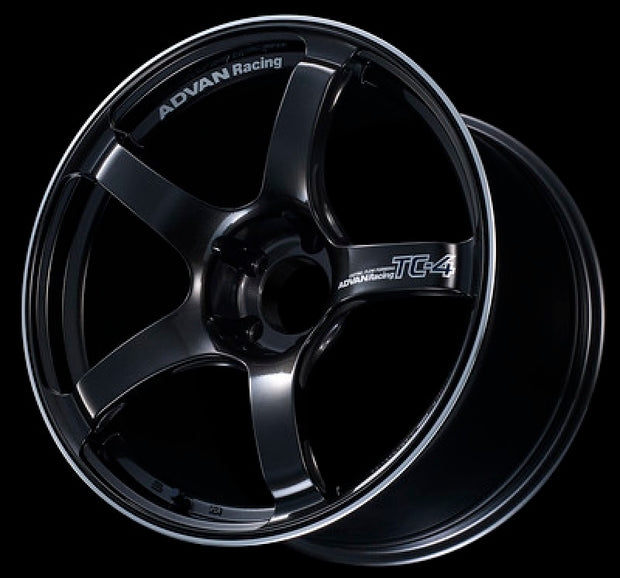 Advan TC4 17x7.5 +35 4-98 Black Gunmetallic & Ring Wheel
