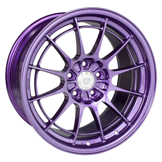Enkei NT03+M 18x9.5 5x114.3 40mm Offset 72.6mm Bore Purple Wheel