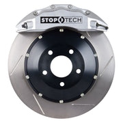 StopTech BBK 08-11 Audi S5 / 10 S4 Front 355x32 Silver ST-60 Calipers Slotted Rotors Pads SS Lines