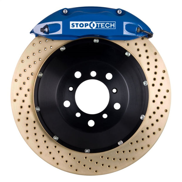 StopTech 07-10 BMW 335 Series BBK Rear Blue ST-40 Calipers Zinc Drilled 345x28 Rotors