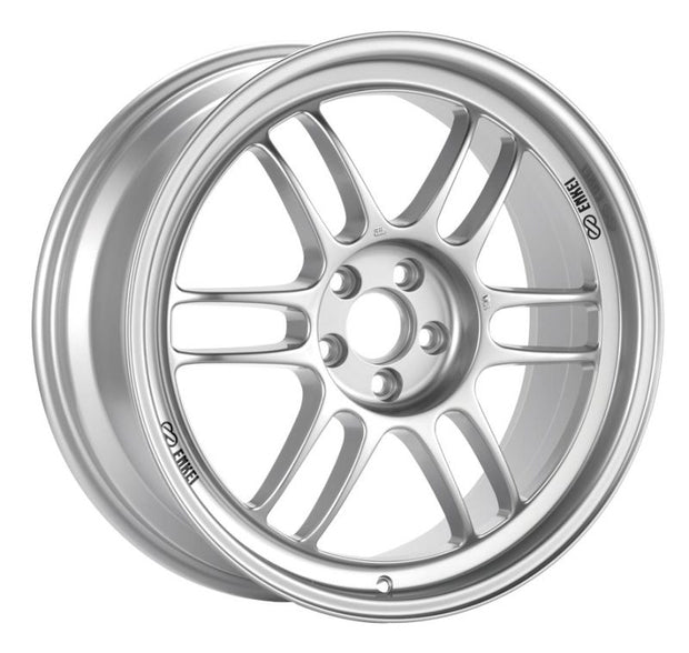 Enkei RPF1 15x7 4x100 35mm Offset 73mm Bore Silver Wheel  Miata 4-Lug / 02-06 Mini