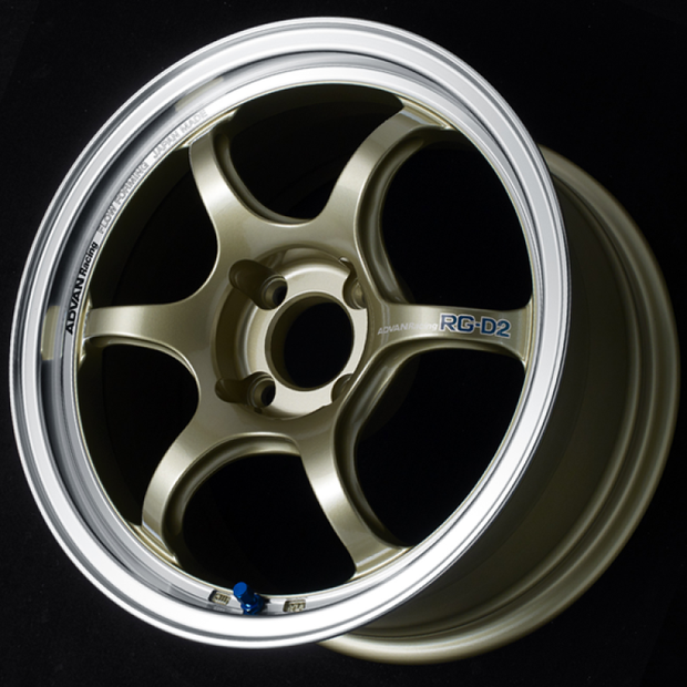 Advan RG-D2 16x8.0 +38 4-100 Machining & Champagne Gold Wheel