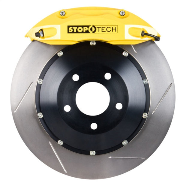 Stoptech 08-14 Audi TT Front Big Brake Kit w/ Yellow ST40 Calipers 355x32mm Slotted Rotors