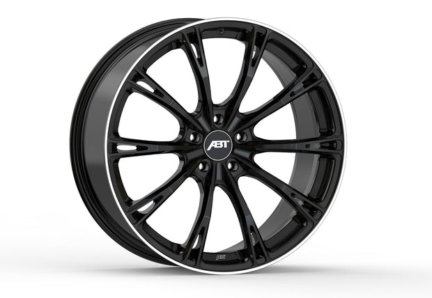 ABT GR20 glossy black alloy wheel set for Audi A7 / S7 / RS7 (C7 / C7.5; MY 2013 - 2018)