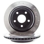 Alcon 2007+ Jeep JK-JL 330x22mm Rotors 4-Piston Red Calipers Rear Brake Kit (Includes Brake Lines)