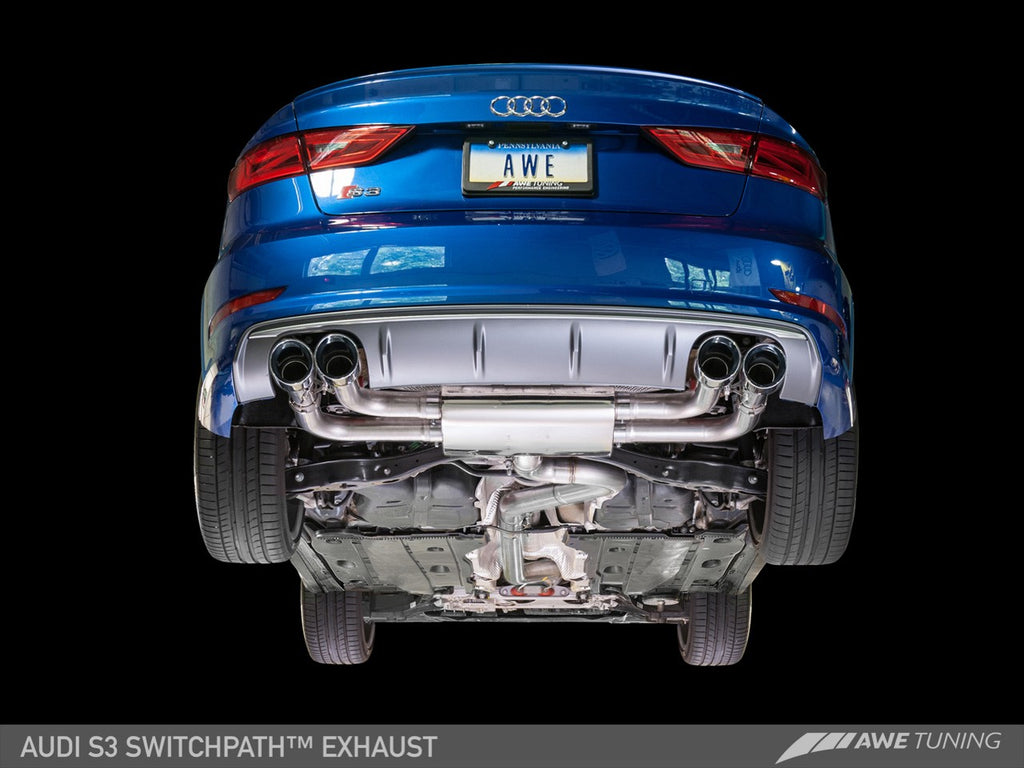 AWE SwitchPath™ Exhaust for Audi 8V S3 , 102mm
