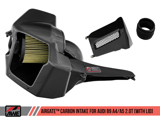 AWE AirGate™ Carbon Fiber Intake for Audi B9 A4 / A5 2.0T - Without Lid