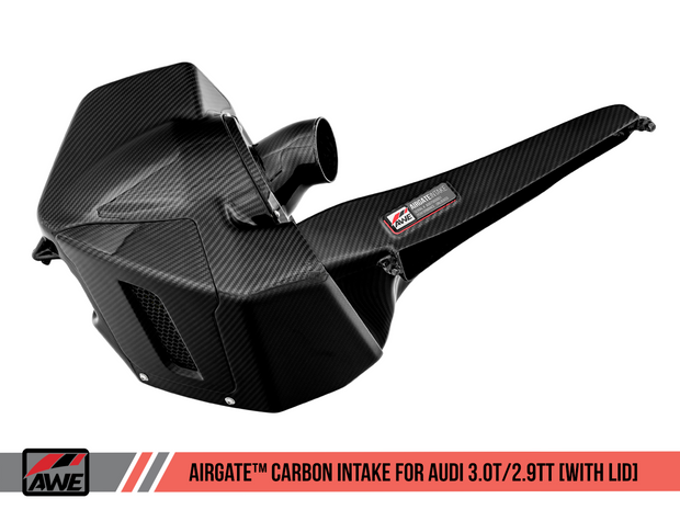 AWE AirGate™ Carbon Fiber Intake for Audi B9 3.0T / 2.9TT - With Lid
