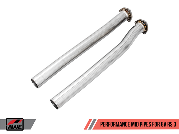 AWE Performance Mid Pipes for Audi 8V RS 3