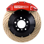 StopTech 08-10 Audi S5 Front BBK w/ Red ST-60 Calipers Drilled Zinc Coated 380x32mm Rotors Pads