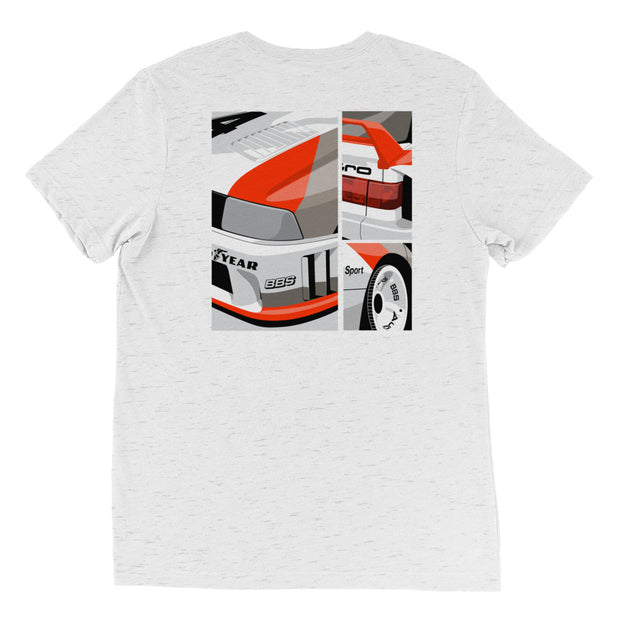 90 GTO Vintage Widebody Art Tri-Blend T-Shirt