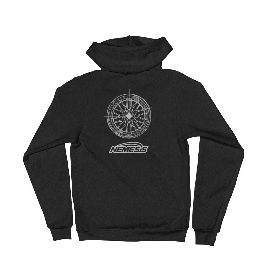 LM Wheel Sketch Zip Up Hoodie