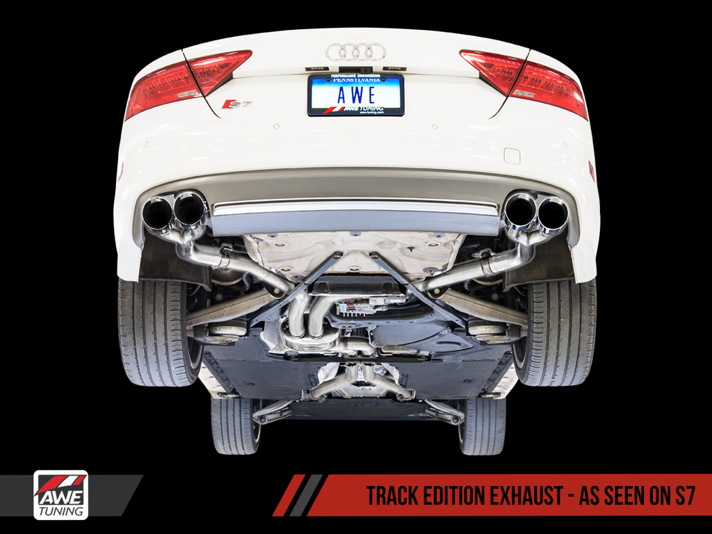 AWE Track Edition Exhaust for Audi C7 S6 4.0T