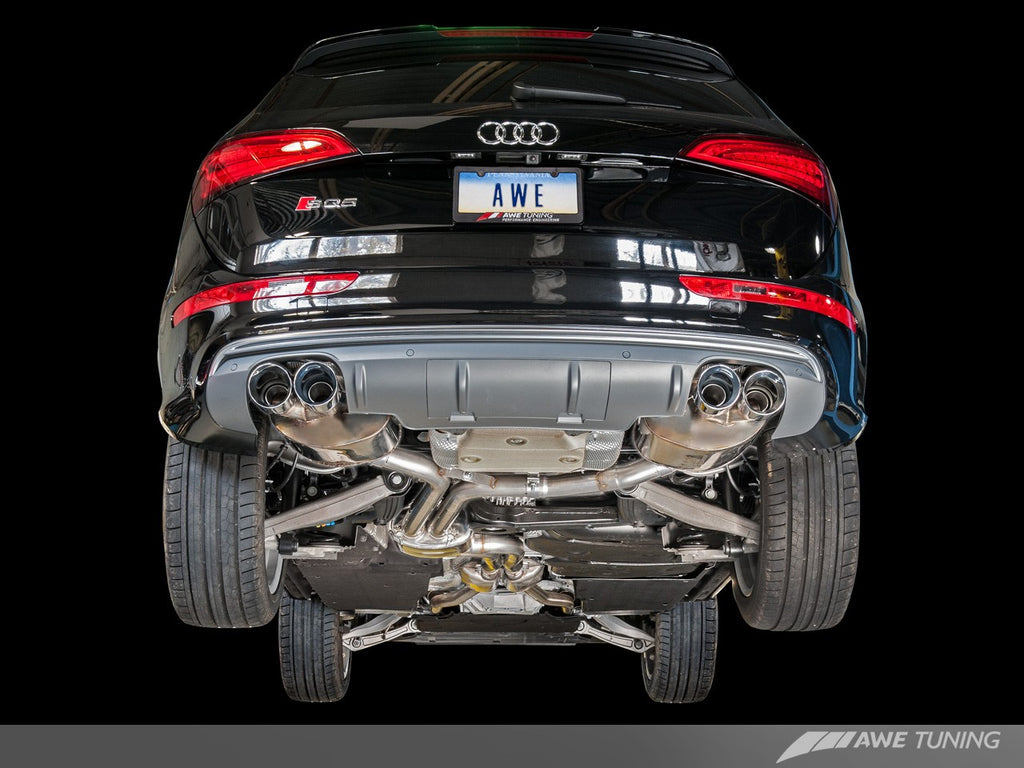 AWE Touring Edition Exhaust for 8R SQ5 - Quad Outlet