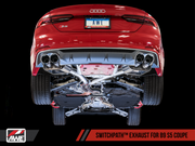 AWE SwitchPath™ Exhaust for Audi B9 S5 Coupe - Non-Resonated - 90mm Tips